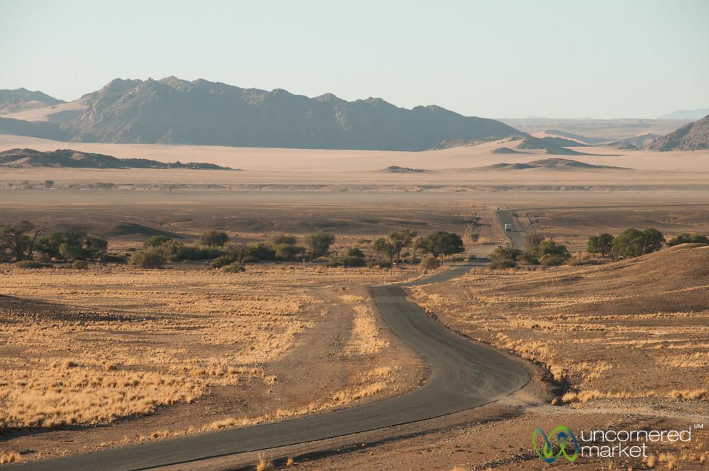 Driving Through the Namib Desert - South Namibia
