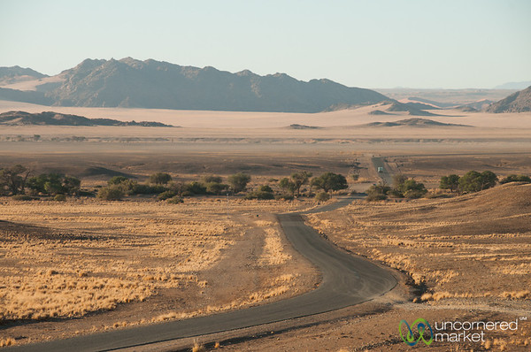 Driving Through the Namib Desert - South Namibia