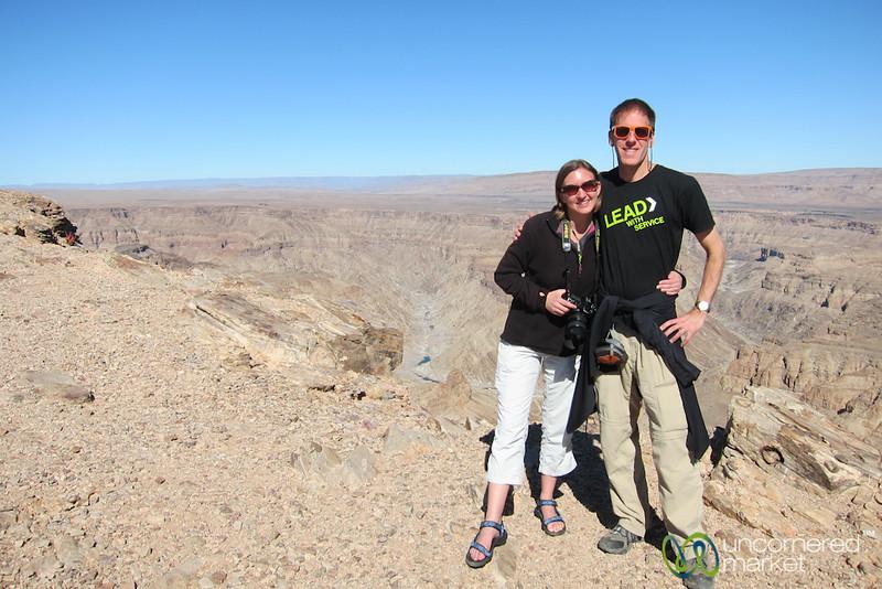 Dan and Audrey at Fish River Canyon - Namibia