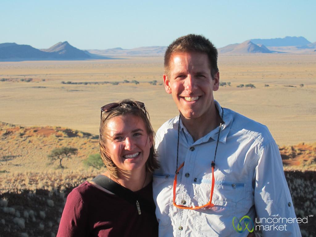 Dan & Audrey at Sundowner  - Namib Desert, Namibia