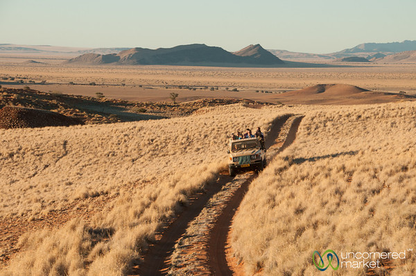 Jeep Heading Out to Sundowner - Namibia