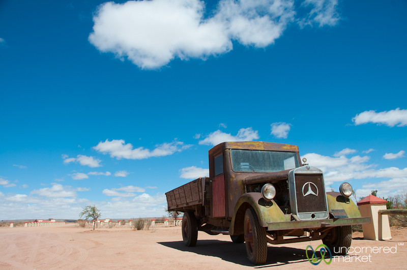 Cañon Roadhouse, Old Mercedes Truck - Namibia