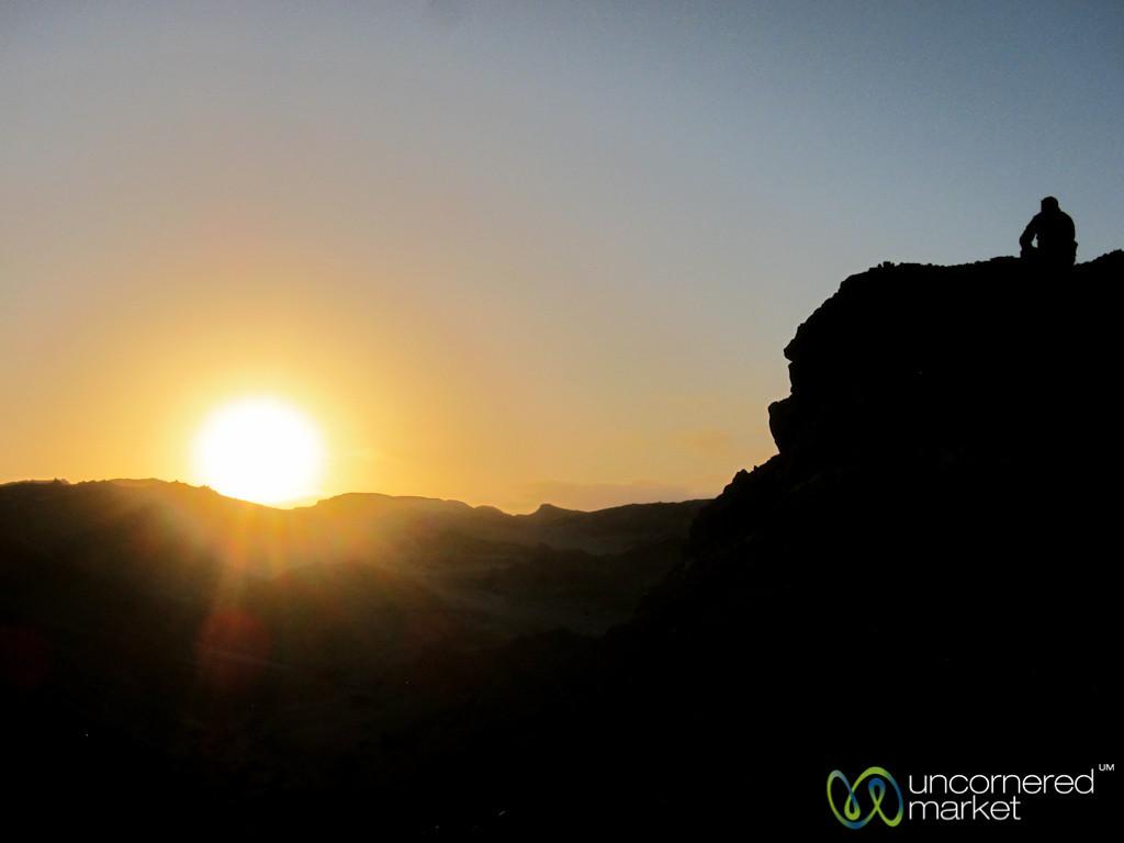 Watching the Sun Go Down in the Desert - Swakupmond, Namibia