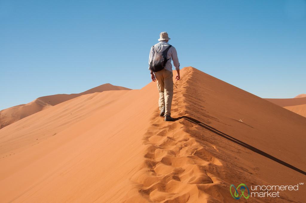Dune Climbing in the Namib Desert - Namibia