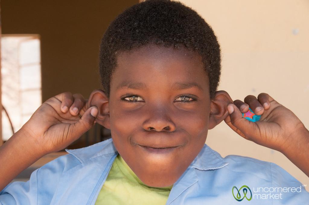 Namibian School Boy, Goofing Around - Spitzkoppe, Namibia