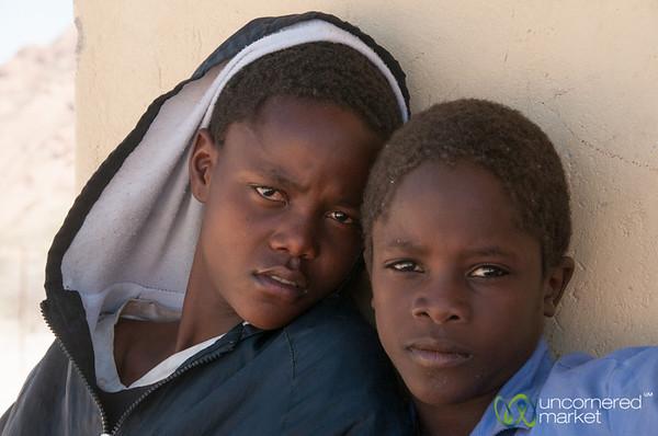 Namibian School Boys - Spitzkoppe, Namibia-