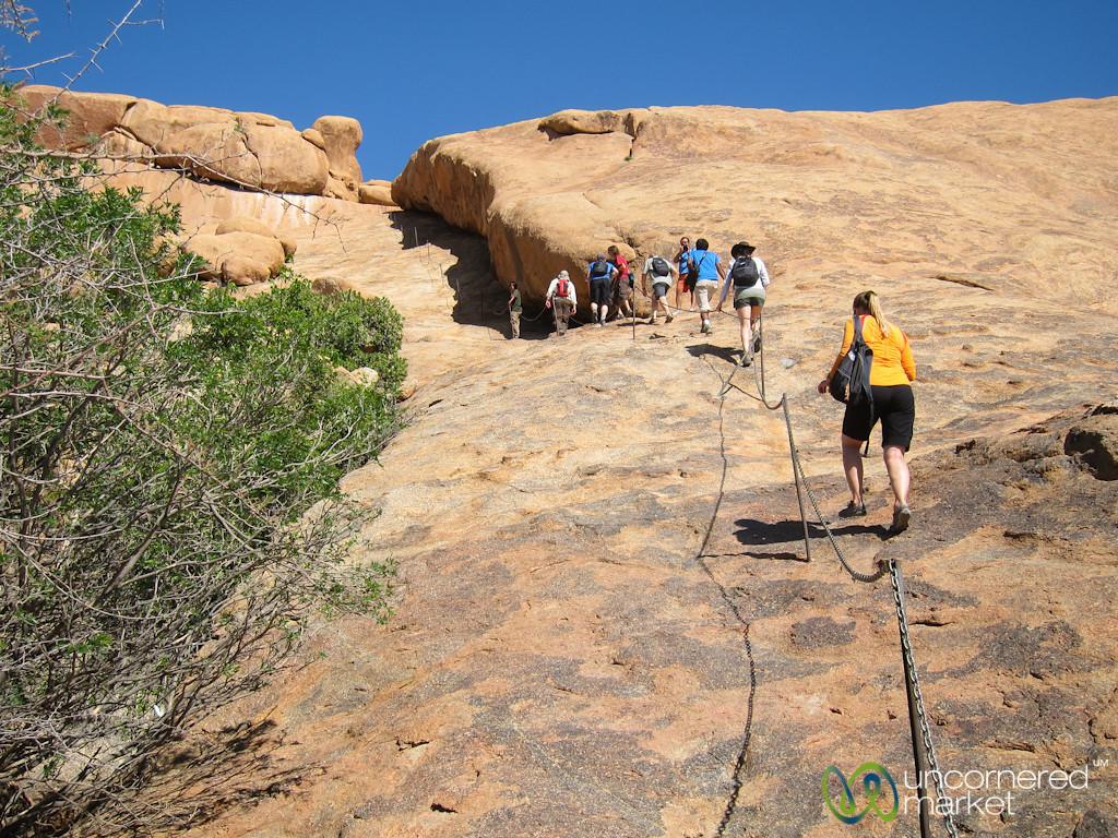 Climbing Up to Bushman Paradise - Spitzkoppe, Namibia