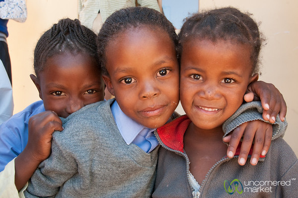 Namibian Faces, School Girls - Spitzkoppe, Namibia