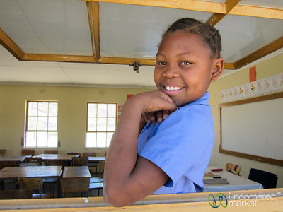 Namibian School Girl - Spitzkoppe School