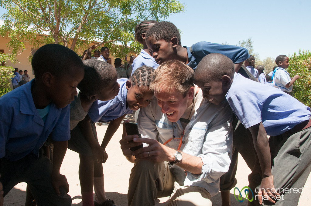 Fun with the iPhone - Namibian School