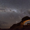 Rock Arch With The Milky Way
