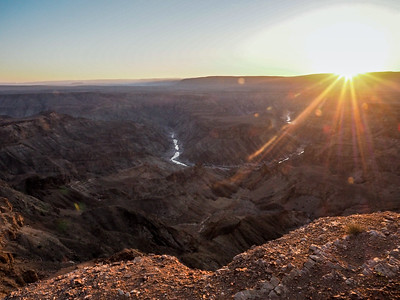 Sunset at Fish River Canyon in Namibia