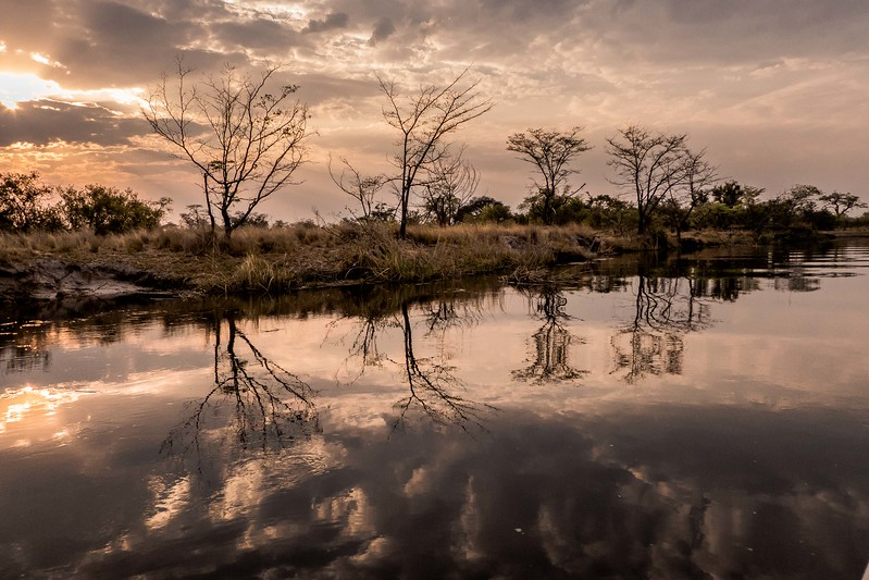 Reflection on the Kwando river