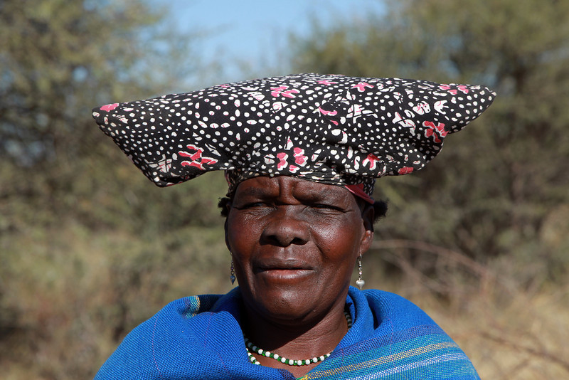 A Herero Woman I met while driving through a village in Northern Namibia, June 2010