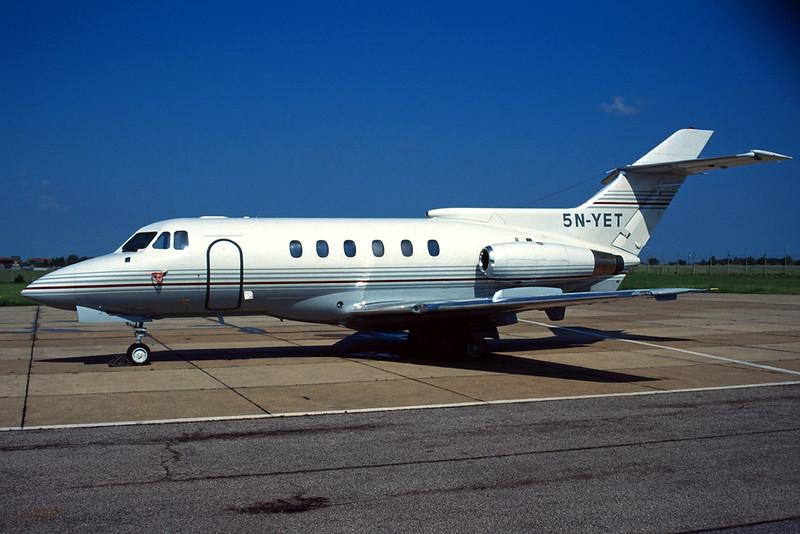5N-YET Hawker-Siddley 125-600A c/n 256013 Manston/EGMH/MSE 09-06-96 (35mm slide)
