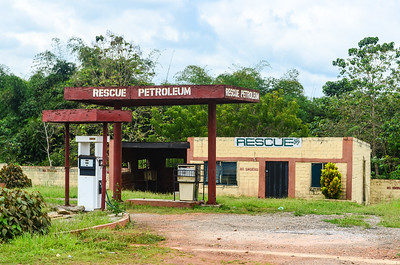 One of many abandoned petrol stations