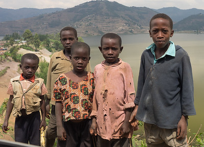 Kids along the road