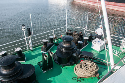 Ship deck at Pointe-Noire, Republic of Congo