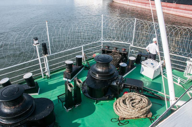 Ship deck at Pointe-Noire, Republic of Congo