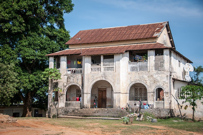 Traditional building in Point-Noire, Republic of Congo