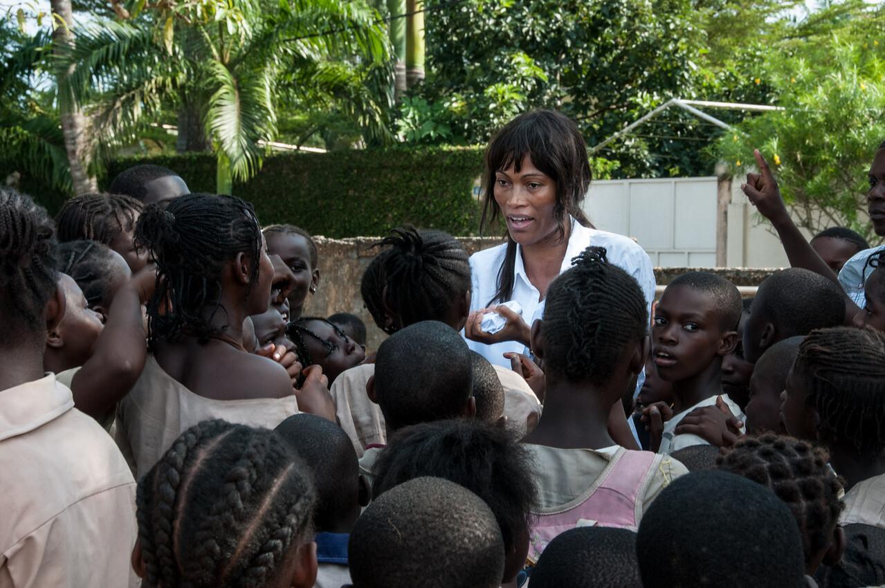 School kids at Point-Noire, Republic of Congo