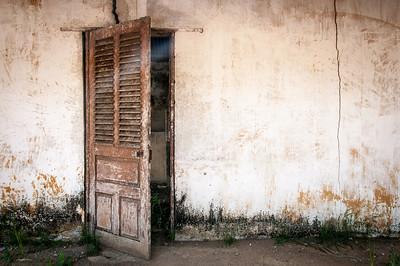 Door to the museum in Pointe-Noire, Republic of Congo
