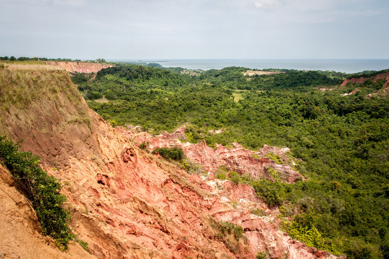 Eroded mountains in Pointe-Noire, Republic of Congo
