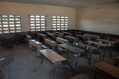 Inside a classroom in Point-Noire, Republic of Congo