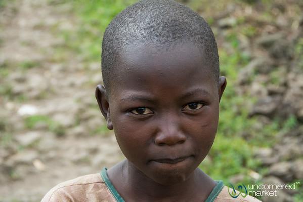 Rwandan Girl, Trying Not to Smile - Musanze, Rwanda