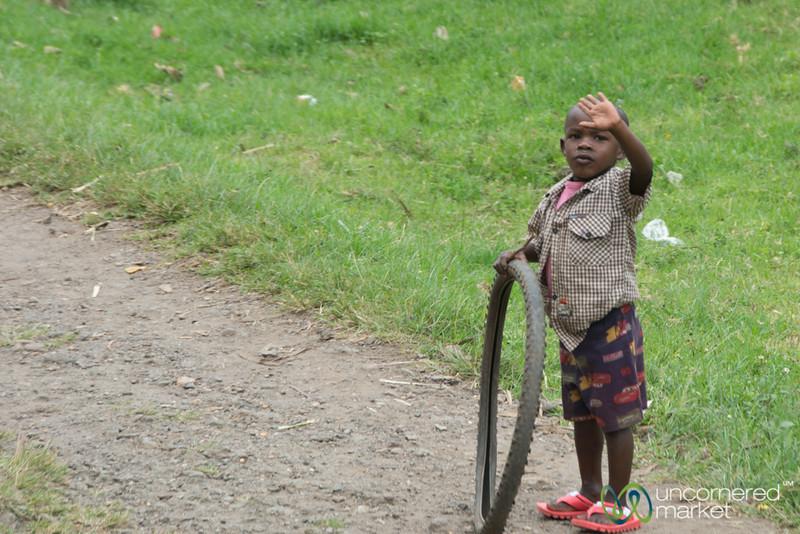 Rwandan Boy Outside Musanze