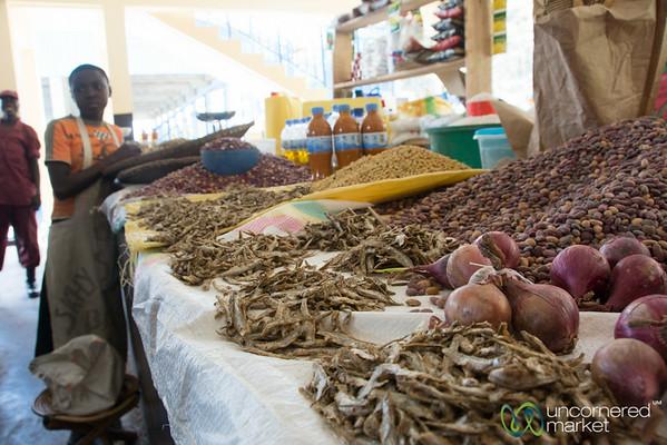 Dried Fish, Beans and Onions - Kibuye Market, Rwanda