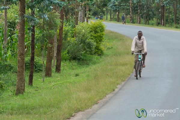 Biking Down the Road - Musanze, Rwanda