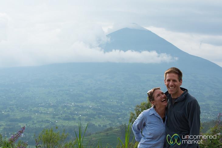Audrey & Dan Goof Off at Mount Muhabura, Rwanda