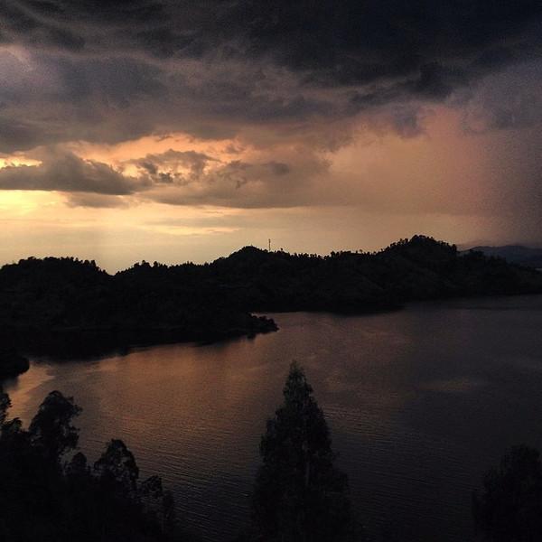 Sunset meet storm. There's mood in the skies. Evening rolls in on Lake Kivu, Rwanda. via Instagram http://ift.tt/Sb3v7c