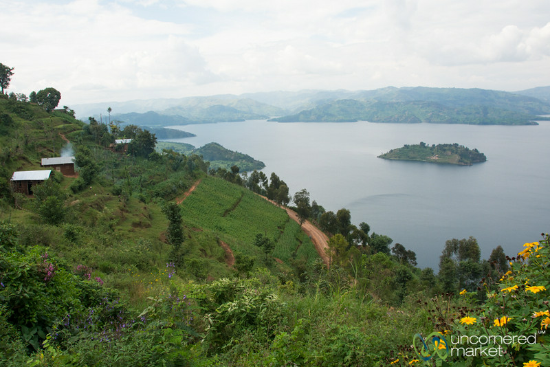 Lake Burera, One of the Twin Lakes Near Musanze, Rwanda
