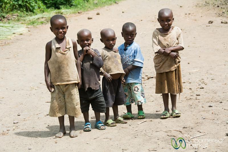 Rwandan Kids, All Lined Up - Musanze, Rwanda