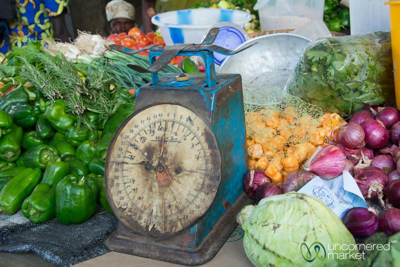 Vegetables and Scale - Kibuye Market, Rwanda