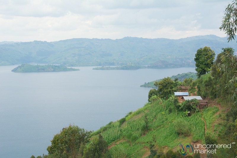 Farms and Homes on Edge of Lake Burera - Musanze, Rwanda