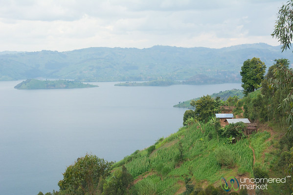 Farms and Homes on Edge of Lake Burera - Musanze, Rwanda