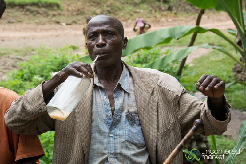 Drinking Banana Beer - Musanze, Rwanda