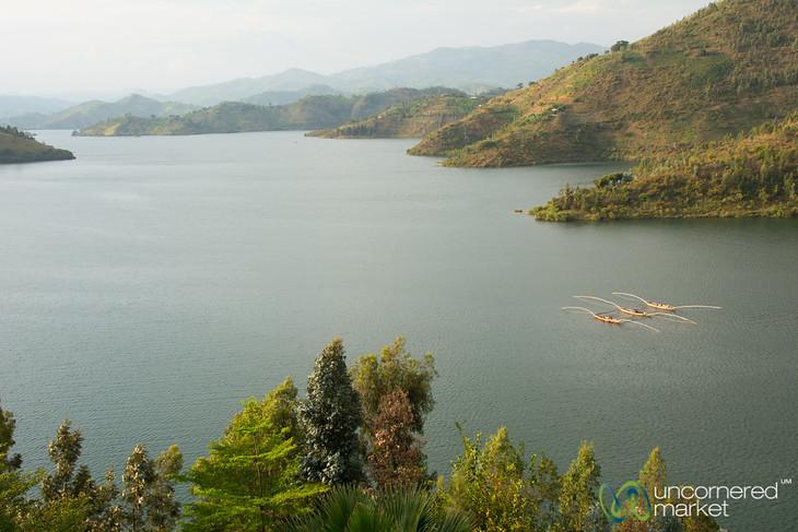 Fishing Boats on Lake Kivu - Kibuye, Rwanda