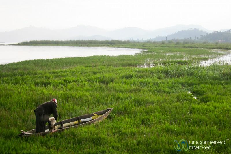 Fisherman on Lake Ruhondo - Musanze, Rwanda