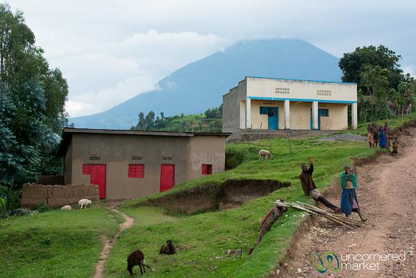 Village Life Below Mt. Muhabura - Rwanda
