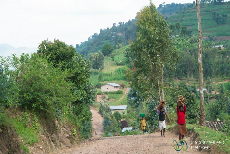 Village Scene Near Musanze, Rwanda