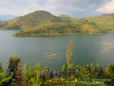 Lake Kivu Fishing Boats Return to Shore - Kibuye, Rwanda