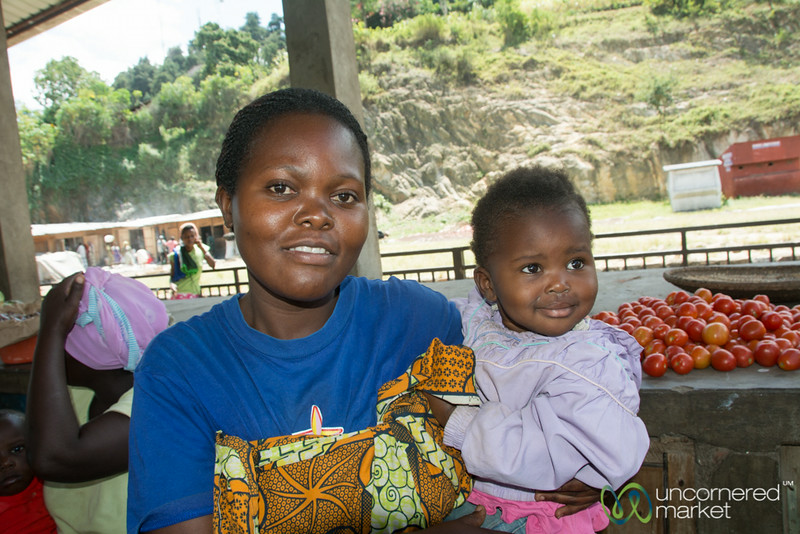 Mother and Child at the Kibuye Market, Rwanda