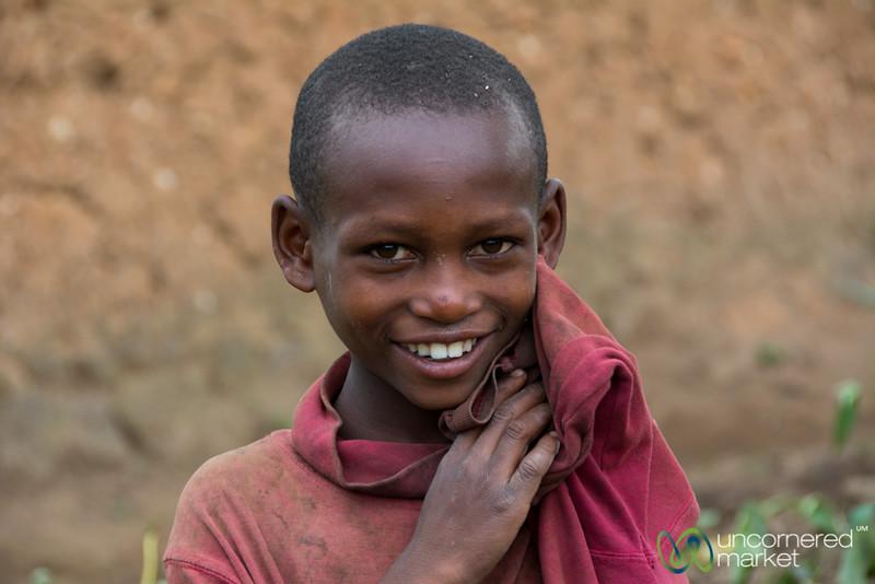 Shy Rwandan Boy - Musanze, Rwanda