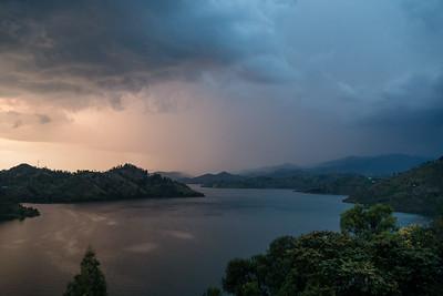 Thunderstorms over Lake Kivu, Rwanda