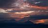 Sunset, Virunga Mountains, Rwanda, Africa.  March 2013