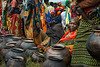 Pots for sale. Sunday morning market near Butegana, northern Burundi